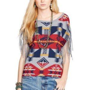 Denim & Supply Fringe Tee Shirt